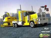 Parcheaza Camionul cu Remorca