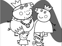 Peppa si Familia de Colorat