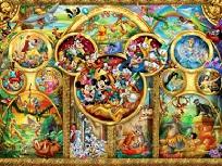 Personajele Disney Puzzle