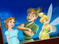 Peter Pan Wendy si Tinkerbell de Colorat