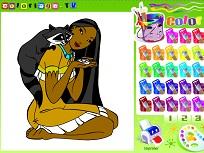 Pocahontas de Colorat