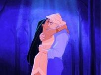 Pocahontas si John Smith se Saruta