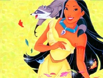 Pocahontas si Meeko Puzzle