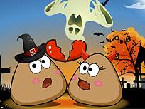 Pou se Saruta de Halloween
