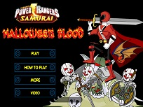 Power Ranger Halloweenul Sangeros