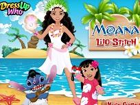 Printesa Moana cu Lilo si Stitch