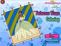 Printesa Tiana de Colorat