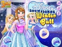 Printesele Disney la Balul Fulgilor de Nea