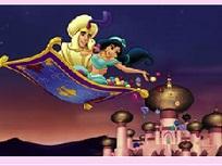 Puzzle cu Aladdin si Jasmine