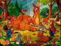 Puzzle cu Bambi si Mamica