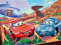 Fulger McQueen si Sally de Colorat