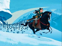 Puzzle cu Mulan Calarind