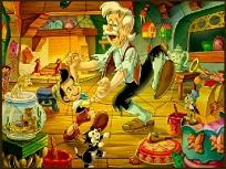 Puzzle cu Pinocchio si Giuseppe
