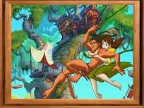 Puzzle cu Tarzan si Jane