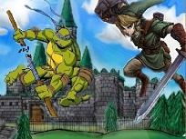 Puzzle cu Testoase Ninja