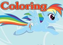 Coloreaza cu Rainbow Dash