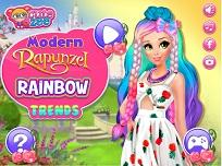 Rapunzel Moderna si Moda Curcubeului