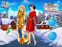 Rapunzel si Alba ca Zapada Vacanta de Iarna
