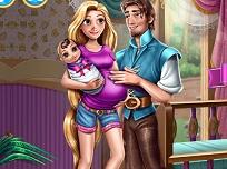 Rapunzel si Flynn Familie Fericita