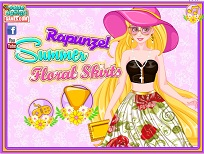 Rapunzel si Fustele cu Imprimeu Floral
