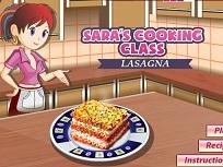 Sara Prepara Lasagna