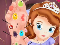 Sofia Intai la Doctor cu Piciorul