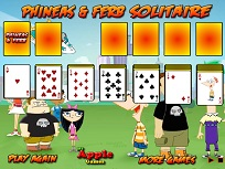 Solitaire cu Phineas si Ferb