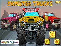Sprint cu Monster Trucks