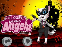 Talking Angela de Halloween