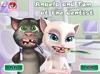 Talking Angela si Tom la Dentist