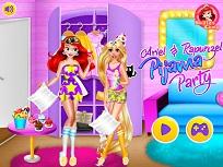 Ariel si Rapunzel Petrecere in Pijamale