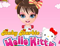 Micuta Barbie Costumul de Hello Kitty