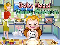 Fetita Hazel si Bunele Maniere la Masa
