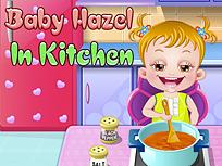 Fetita Hazel in Bucatarie