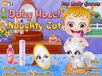 Fetita Hazel si Pisica Obraznica