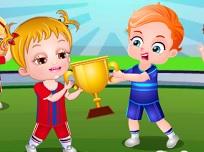 Fetita Hazel la Sport