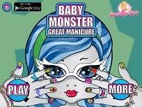 Bebelusul Monstru la Manichiura