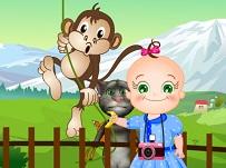 Bebelusul Rosy si Talking Tom la Zoo
