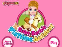 Bebelusa Barbie Accident la Joaca