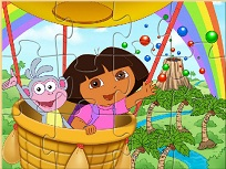 Dora si Boots Puzzle