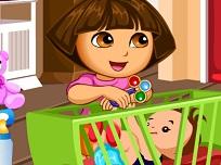Distractie cu Dora Babysitter