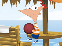 Phineas si Ferb Baschet pe Plaja