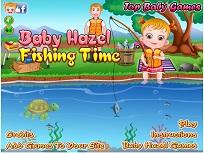 Fetita Hazel la Pescuit