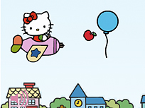 Zboara cu Hello Kitty