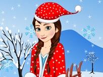 Frozen Anna ca Mos Craciun