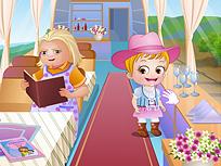 Fetita Hazel la Casa Bunicii