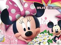 Coloreaza cu Minnie Mouse