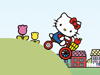 Hello Kitty pe Bicicleta