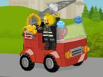 Lego si Masina de Pompieri