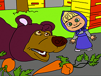 Masha si Ursul in Gradina